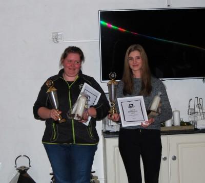 Klubmestre 2016: Malene Graversen og Louise Ladefoged (junior)